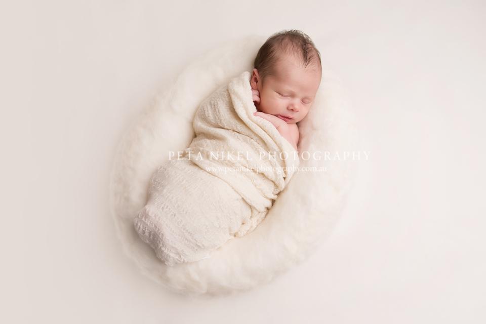 Newborn portaits taken in Hobart
