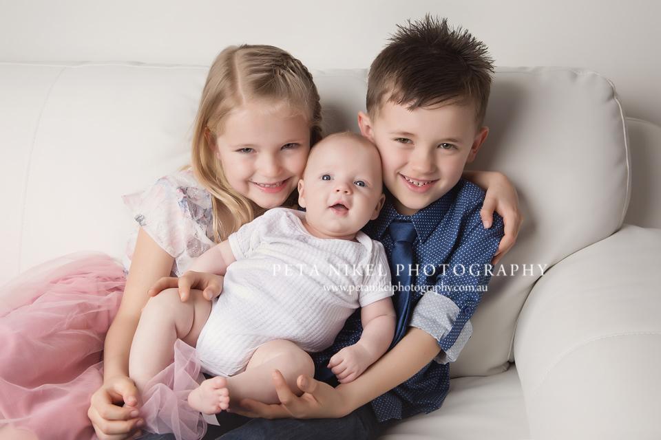 Sibling Newborn Portraits Hobart