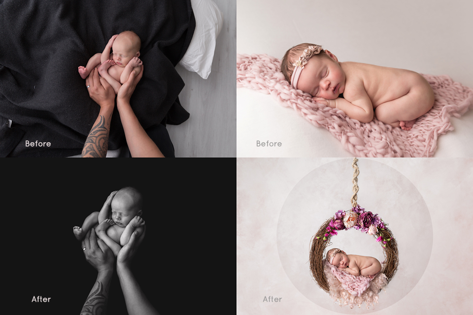 Newborn Photography composites