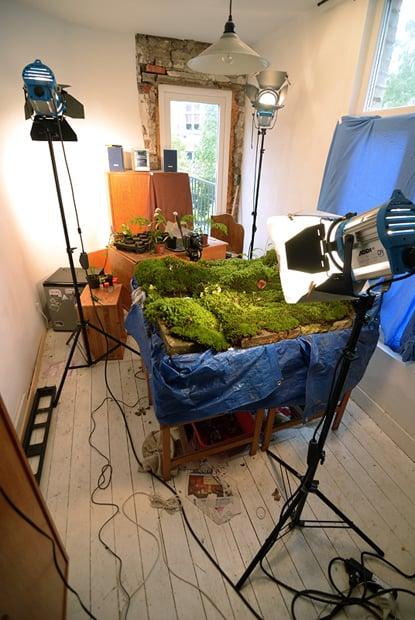 Photographer Captures Outdoor Scenes Inside His Tiny Indoor Studio 1 sunrise