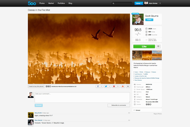 500px Redesigns Photo Page, Integrates a Stunning Full Screen Experience 500pxbefore