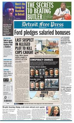 Detroit Newspaper Photographer Arrested While Covering Police Action Detroitfreepressfrontpagenew