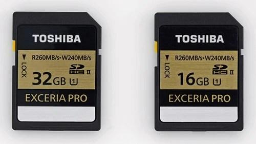 Toshiba Announces New SD Card Series, Boasts Worlds Fastest Write Speeds EXCERIA PRO TM