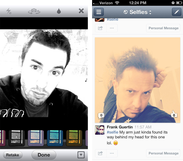 Just.me App Introduces Selfies Feature, Instagram like Filters Just Me Screen 2