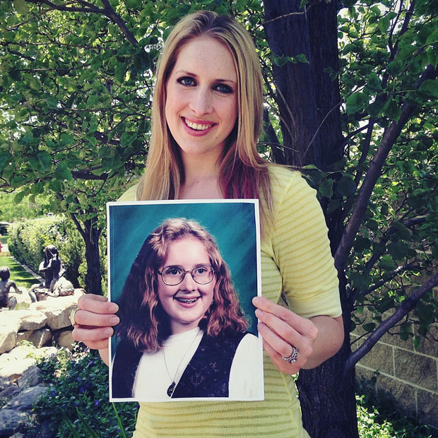 Portraits of People Holding Their School Pictures from Awkward Years awkwardyears 4