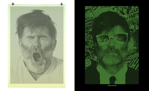 These Binary Prints by Alex Trochut Show Different Portraits in Light and Darkness binary1