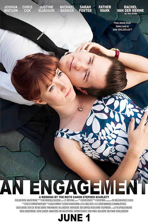 Photographer Captures Couples Journey Toward Marriage as Movie Posters engagement