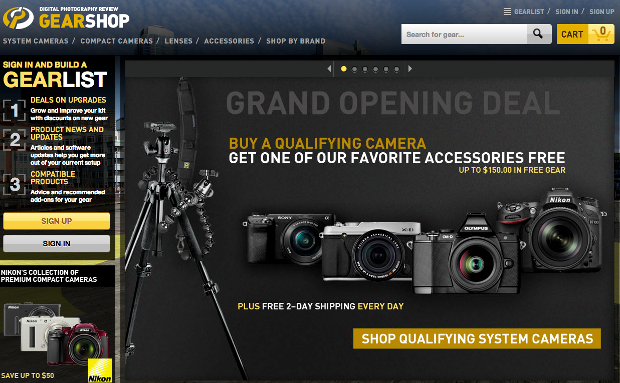 DPReview is Hoping to Convert Its Review Prowess Into Sales with GearShop gearshop1