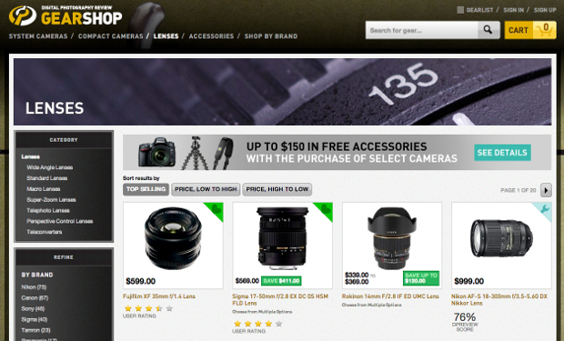 DPReview is Hoping to Convert Its Review Prowess Into Sales with GearShop gearshop3