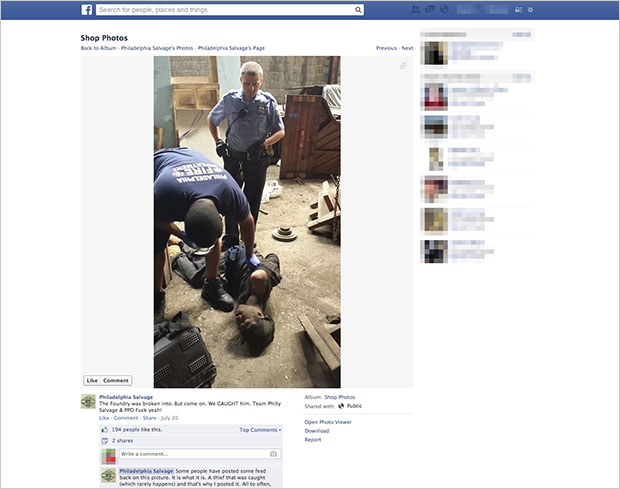 Business Shares Photo of Thiefs Arrest on Facebook, Sparks Controversy header2