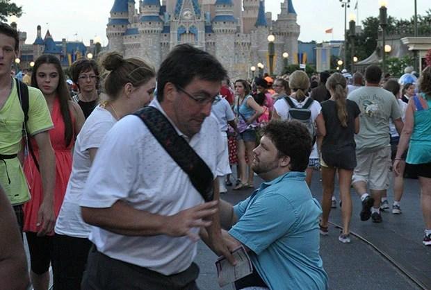 Man Photobombs Disney World Proposal, Gets Turned Into an Internet Meme meme