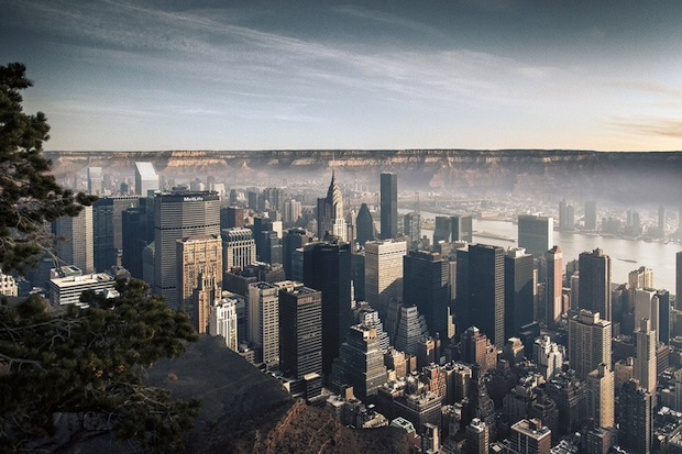 Photos of New York City Inside the Grand Canyon Contrast Emptiness and Density merge1