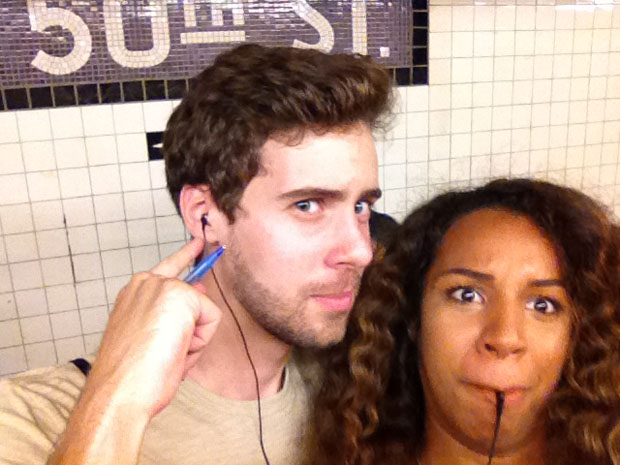 Couple Captures Selfies at Each of the 118 Subway Stations in Manhattan subwaystops 1