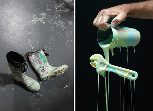 Colorful Photos of Paint Being Flung from Barbie Heads and Various Objects tumblr inline mpu6slS9WT1qz4rgp