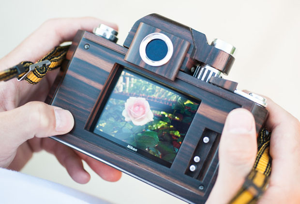 Nikon F2D: A Homemade Digital Nikon F2 Replica Crafted Out of Wood woodennikonf2d 1