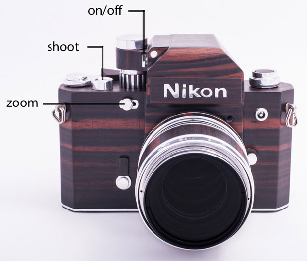 Nikon F2D: A Homemade Digital Nikon F2 Replica Crafted Out of Wood woodennikonf2d 4