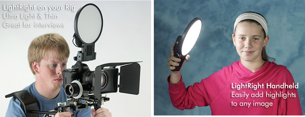 LightRight Combines an LED Panel with a Flash Diffuser for Video and Portraits LightBright Stock 2