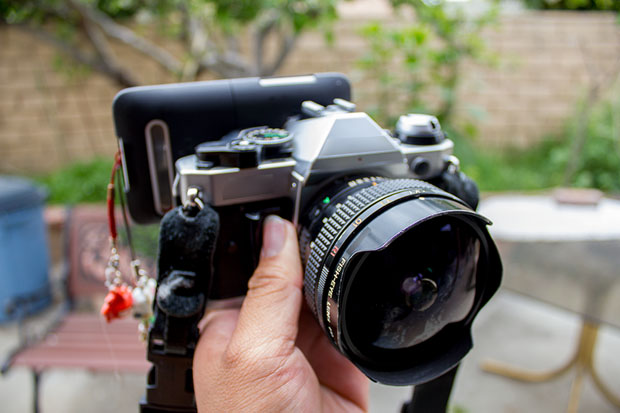 Make a Super Simple Smartphone to SLR Adapter Using an Extra Eyepiece MG 7034