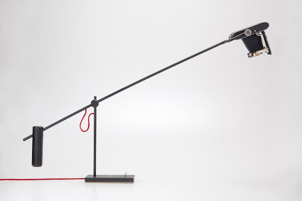 Company Gives Old Cameras and Strobes New Life as Light Fixtures cameralamp1