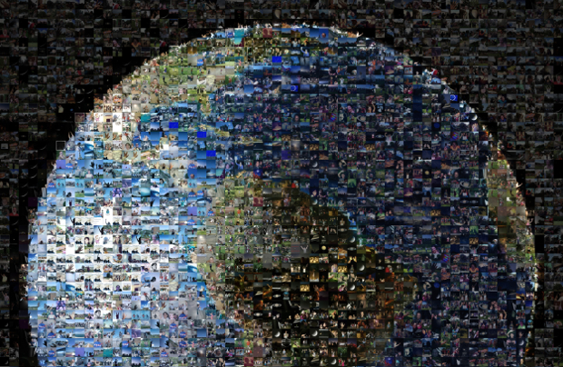 Image of Earth Made Up of 1400 Photos of People Waving at the Cassini Spacecraft earthwave1