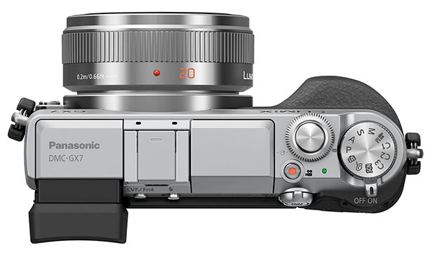 Panasonic GX7 is a 16MP Mirrorless with In Body Stabilization and a Tiltable EVF gx7 top