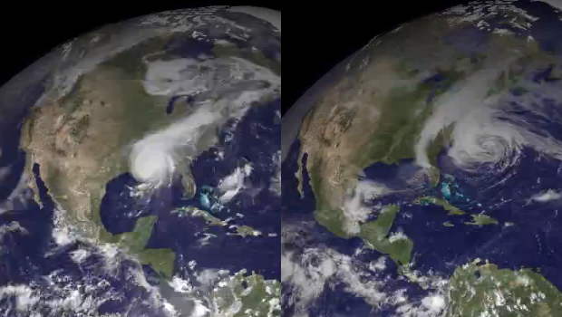 Satellite Time Lapse Shows Ten Years of Earths Weather in Three Minutes hurricanelapse