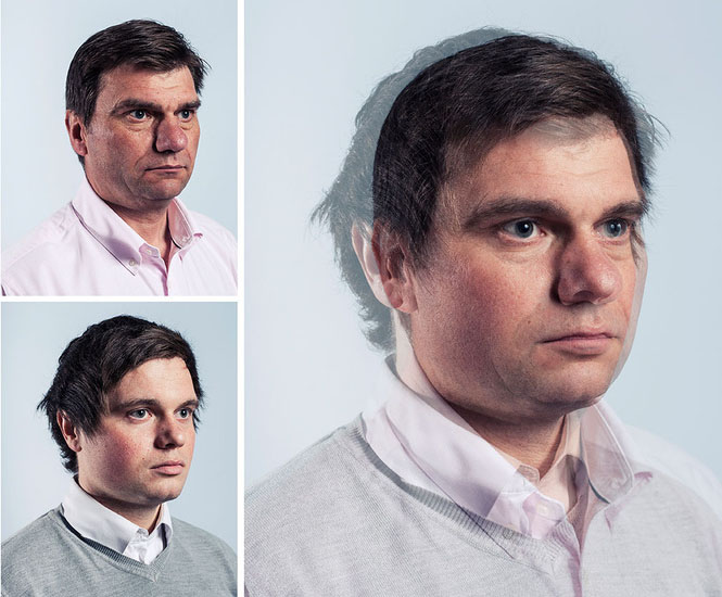 Photographer Blends Portraits of Fathers and Sons to Show Genetic Similarities jpeg 6