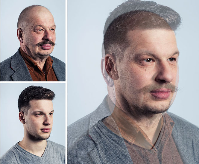 Photographer Blends Portraits of Fathers and Sons to Show Genetic Similarities jpeg 9