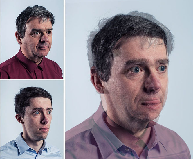 Photographer Blends Portraits of Fathers and Sons to Show Genetic Similarities jpeg
