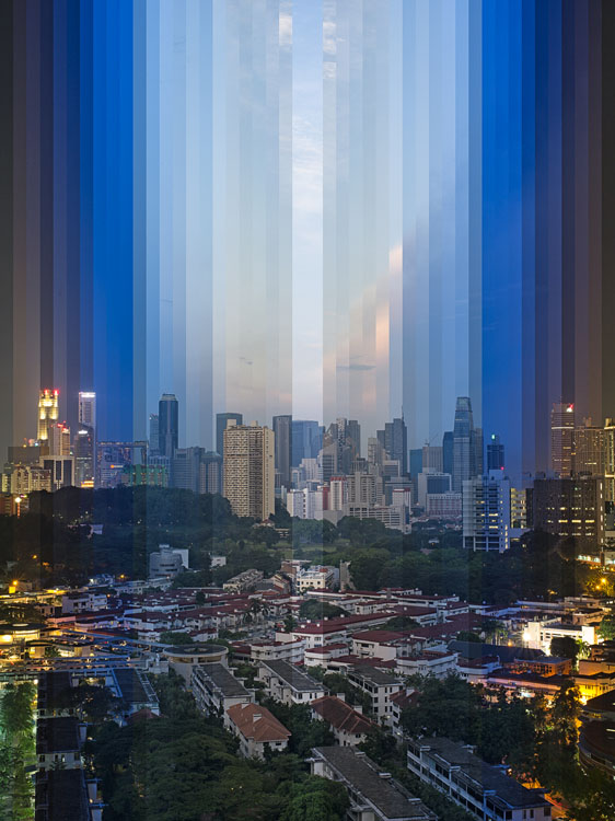 These Creative Time Slice Photo Collages Blend Day and Night night day tiong bahru multi slit central