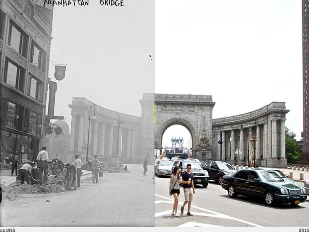 Then and Now Photos of New York City  nycbeforeafter 1