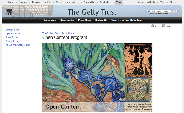 Getty Museum Launches Open Content Program, Shares 4,600 Images Free opencontentprogram1