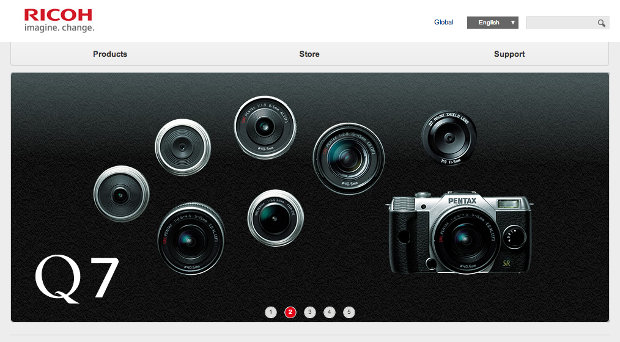 Ricoh Branding Takes Over Pentax Sites in Wake of Recent Name Change ricohrebrand1