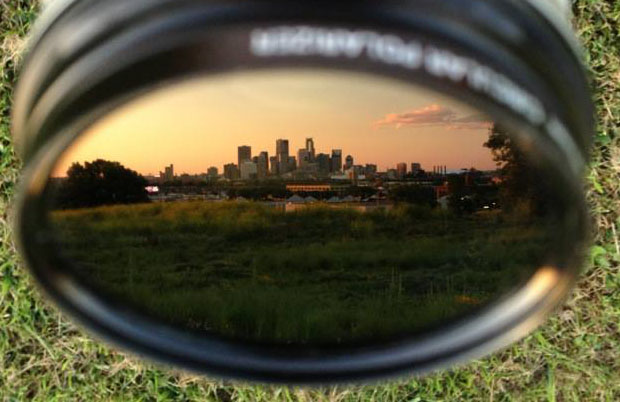Idea: Photograph Your City Skyline in the Reflection of a Lens skyline2