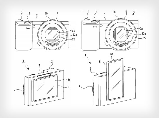 Sony Patent Shows a Camera Sensor and LCD Screen That Rotate Together sonypatent