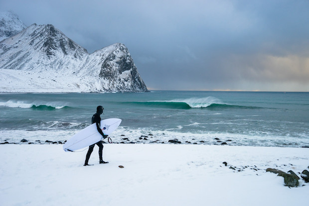 """2014, CHRIS BURKARD, NORWAY, WINTER, SURFING"""
