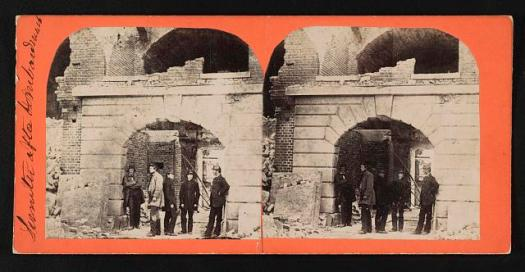 Sumter after bombardment.
