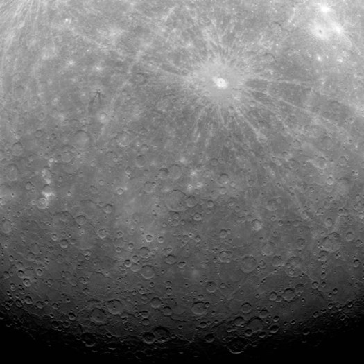 The first ever obtained from a spacecraft in orbit over Mercury.