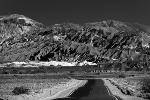 The road to Zabriskie Point, Death Valley National Park, California.