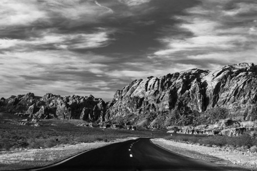 The road to Valley of Fire State Park, Nevada.