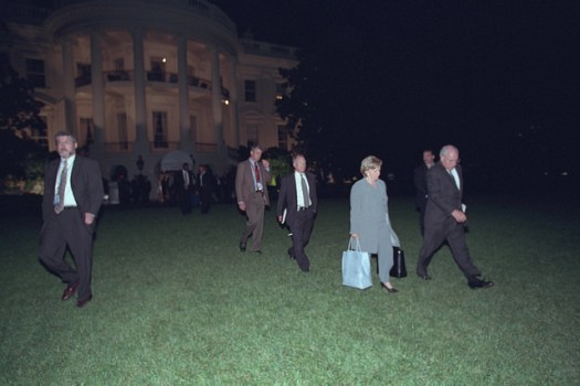 Vice President Cheney and Lynne Cheney Depart the White House on Marine Two