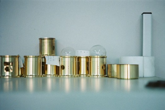 New Petzval 85 Lens Barrels waiting for testing and fine adjustments on the technical process.
