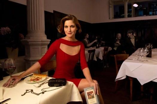 Annina Frey, TV Host in the style of Annie Leibovitz