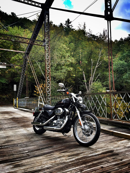 wooden-bridge-and-harley