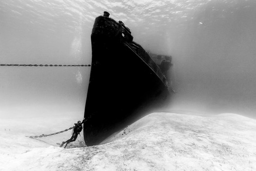 """USS Kittiwake and Diver."" Christian Vizl/UPY 2016"