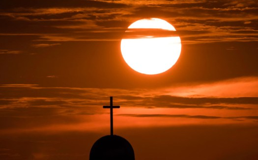 I'm not exactly religious but it would be hard to ignore this sunset!