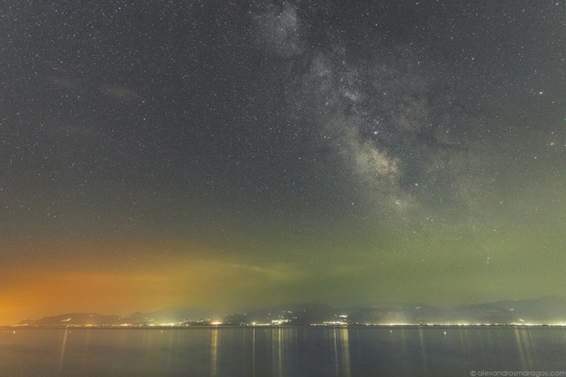 The Milky Way over Greece