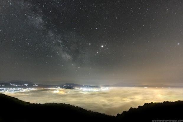 The Milky Way over Lake Pamvotida