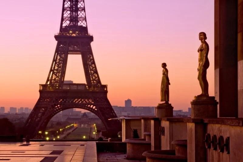 Eiffel Tower at Dawn  | Aperture: f29  |  Shutter Speed: 8 sec  |  ISO: 100  |  Focal Length: 56 mm  | Lens: Sigma 24-70