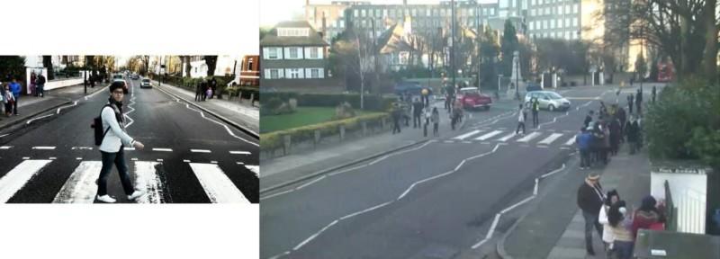 """bctn8a9cyaawb6m jpg large orig 800x288 - Projeto """"Found"""" visa achar pessoas que tiraram foto na rua dos Beatles"""